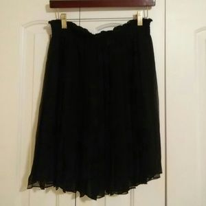 Dresses & Skirts - Sexy Sheer Chiffon Black Pleated Skirt