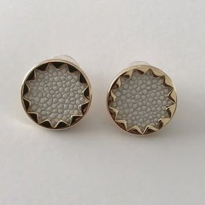House of Harlow 1960 Jewelry - House of Harlow Starburst Earrings. White and Gold