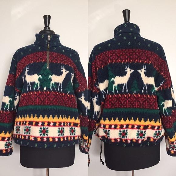 limited sport usa vintage christmas fleece jacket - Christmas Fleece