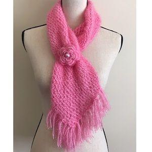 ❤BOGO Pink handmade Neck Scarf
