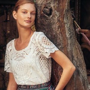 Blue Label Anthropologie Lace top