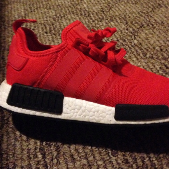 Adidas Shoes Red And Black Nmds Poshmark
