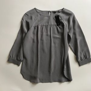 Tinley Road Tops - Tinley Road beautiful gray blouse NWT