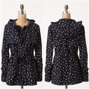 Anthropologie Rain Dotted Anorak navy jacket 6