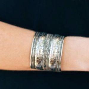SALE! Etched Silver Cuff Bracelet