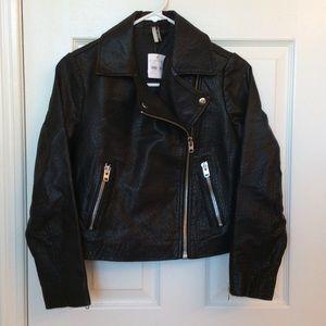Topshop Jackets & Blazers - Topshop leather crop moto