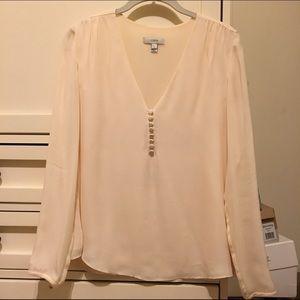 Jcrew silk button front blouse