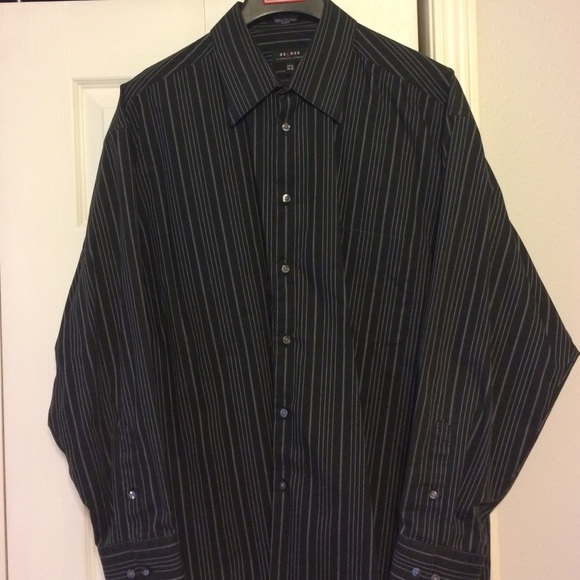 Axcess - Men's Black Long Sleeve Button down shirt from Danielle's ...