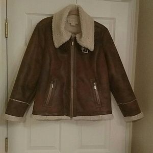 Michael Kors Jackets & Blazers - Brown Michael Kors Jacket with shearling.