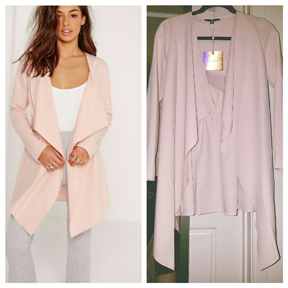 75% off Missguided Jackets & Blazers - NWT Missguided Blush ...