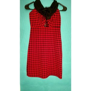 Red and Black Entro Dress