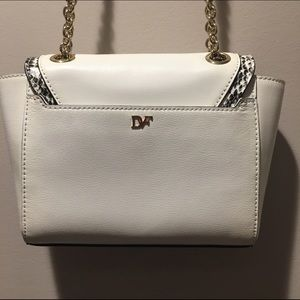 Diane von Furstenberg Bags - DVF mini 440 white leather crossbody bag