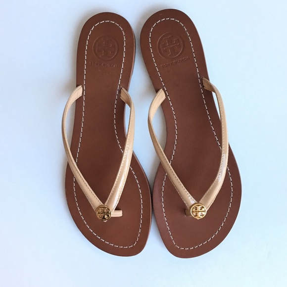 d72ddc932ca ... Tory Burch Terra leather thong sandals. M 5823b7793c6f9fe6d9003430
