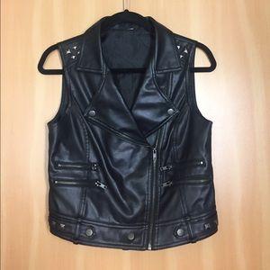Jackets & Blazers - Black Faux Leather Vest
