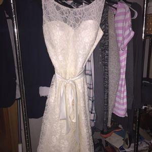Marina Rinaldi Dresses & Skirts - White Lace Dress