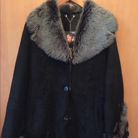 66% off Harlin Jackets &amp Blazers - REAL LAMBSKIN SHEARLING COAT