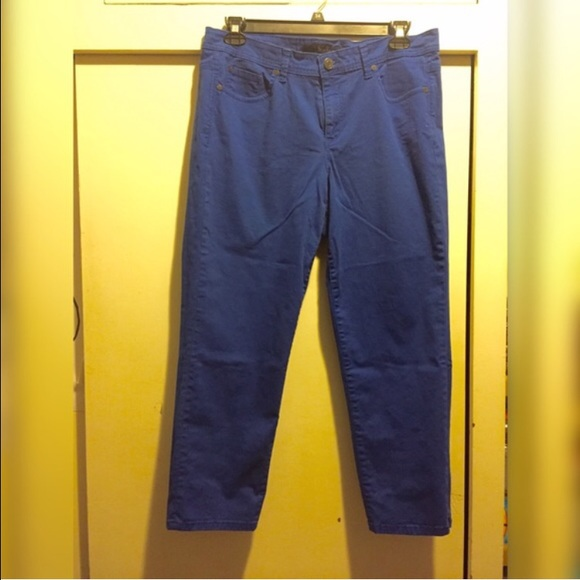 71% off Calvin Klein Jeans Denim - CK royal blue Capri pants ...