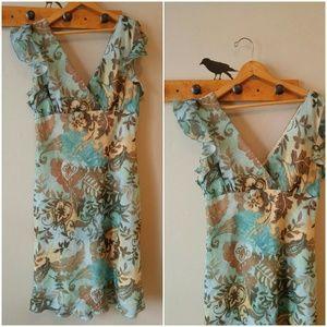 SALE Beautiful Watercolor dress floral print sz 16