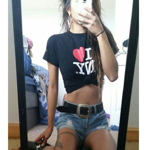 I love heart new York ny crop tee shirt