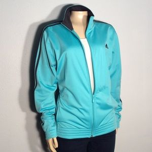 Adidas blue black stripe jacket