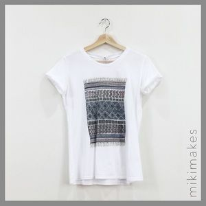 Sincerely Jules Tops - SINCERELY JULES • white scarf print tee