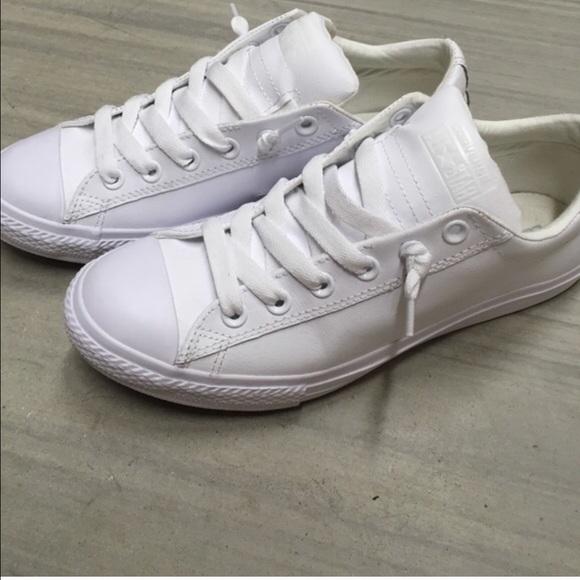 White Converse No Tie Sneakers   Poshmark