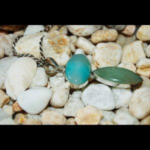 Agate & Chalcedony Statement Pendant 2""