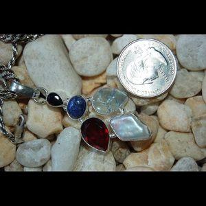 "handmade & handcrafted gemstone jewelry Jewelry - Lapis Lazuli Statement Pendant 2"""