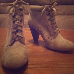 Forever 21 lace up heeled bootie.