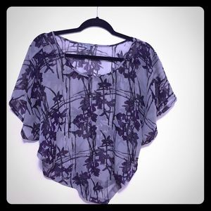 Asymmetrical floral blouse size small
