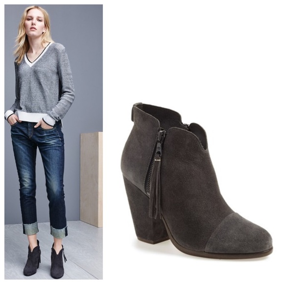 Rag & Bone Leather Square-Toe Booties