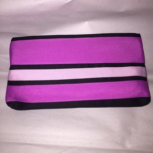 YSL SAINT LAURENT pink zip top MAKE UP BAG