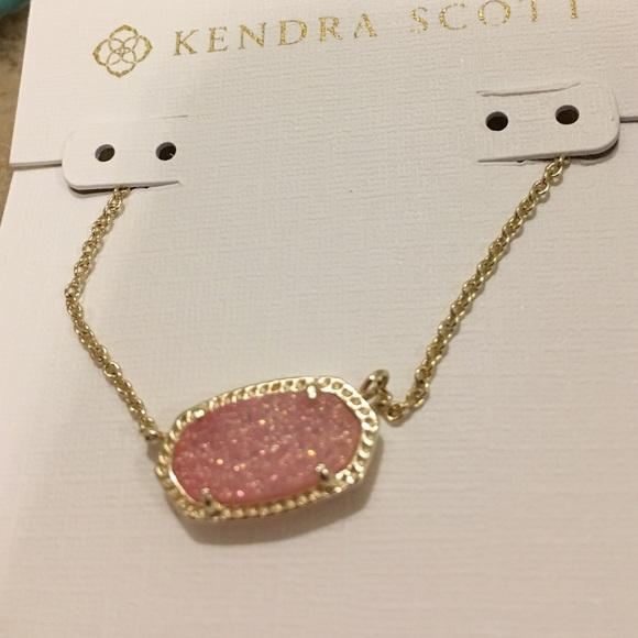 Kendra Scott Jewelry Kendra Scott Light Pink Drusy Elisa