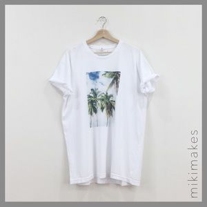 Sincerely Jules Tops - SINCERELY JULES • palm tree white t-shirt