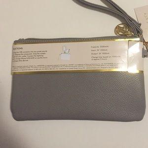 Adrienne Vittadini Bags - Adrienne Vittadini Gray Charging wristlet