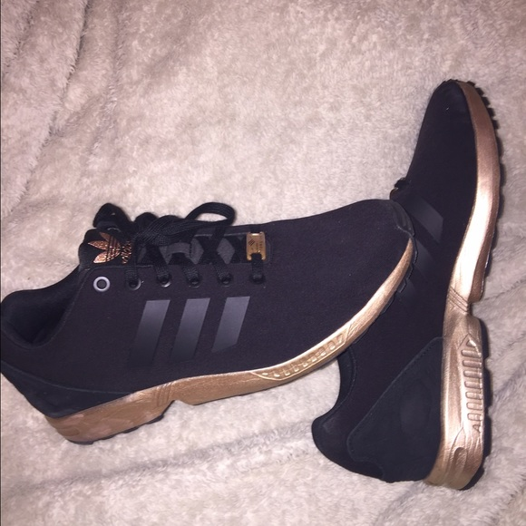 Adidas Shoes Rose Gold And Black