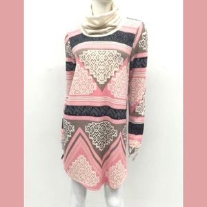 Cowl Neck Print Dress