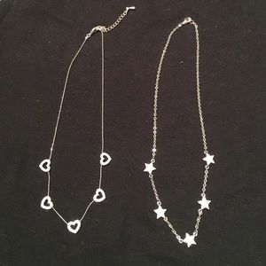 Jewelry - Flash Sale⚡star necklace & heart necklace