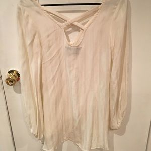 73b904d5150 Free People Tops | Spanish Moss American Gold Cross Neck Tunic ...