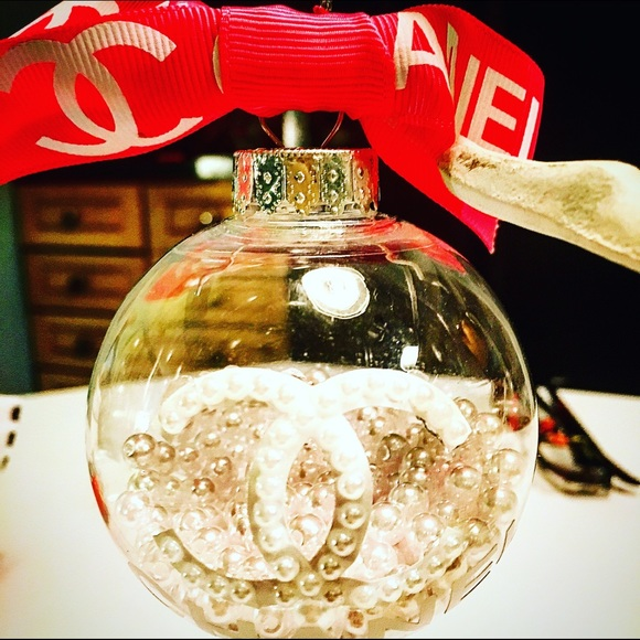 Chanel Christmas Ornaments.Customized Chanel Christmas Ornaments
