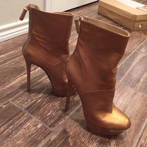 Gold booties