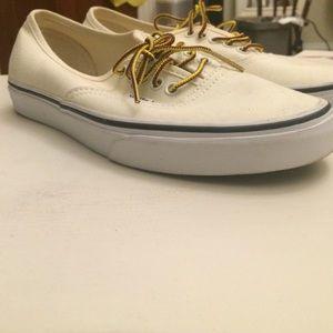 236e1e471b Vans Shoes - J.Crew Cream Vans (size 9 Women s)
