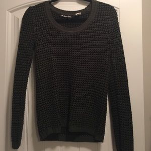 Planet Gold Sweaters - Olive green and black sweater