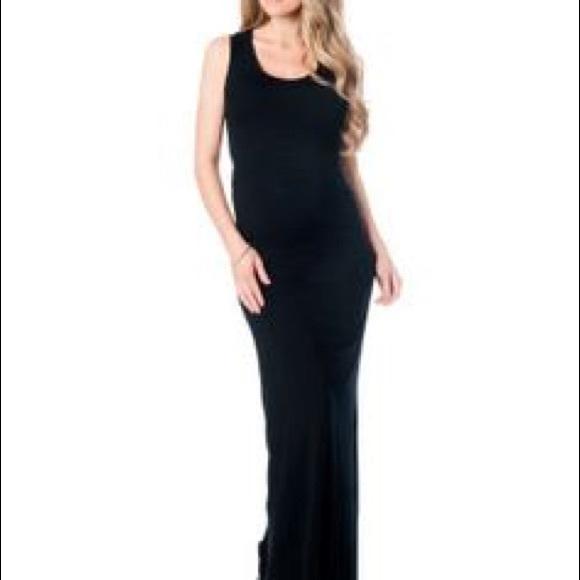 Nicole miller maternity maxi dress