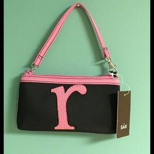 """The Sak Handbags - The Sak Knitweave Initial """"r"""" Logo Wristlet"""