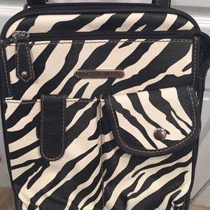 Jaclyn Smith Handbags - Jaclyn Smith Zebra Cross Body Purse