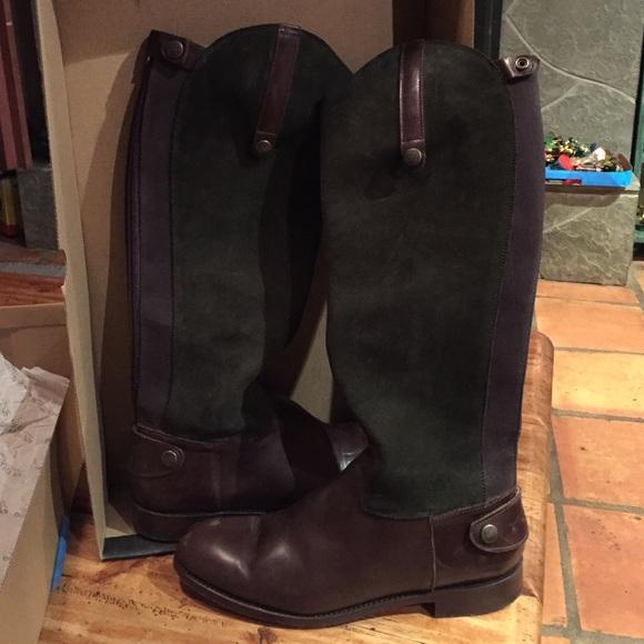 37c55a62056 El Estribo Marron Verde Bronce riding boot