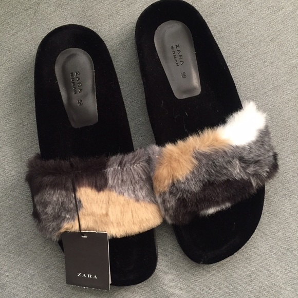 8cfe4940ba7 Faux Fur Slide