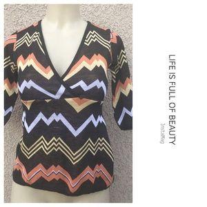 Sweaters - ❤ Aztec print crop sweater