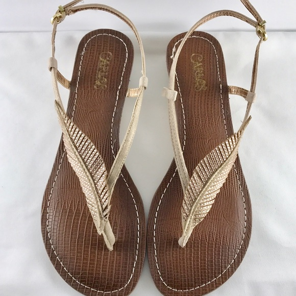 bdbad72919e56c Carlos Santana Shoes - Carlos Santana  Tandy Sparkle Leaf  Sandal